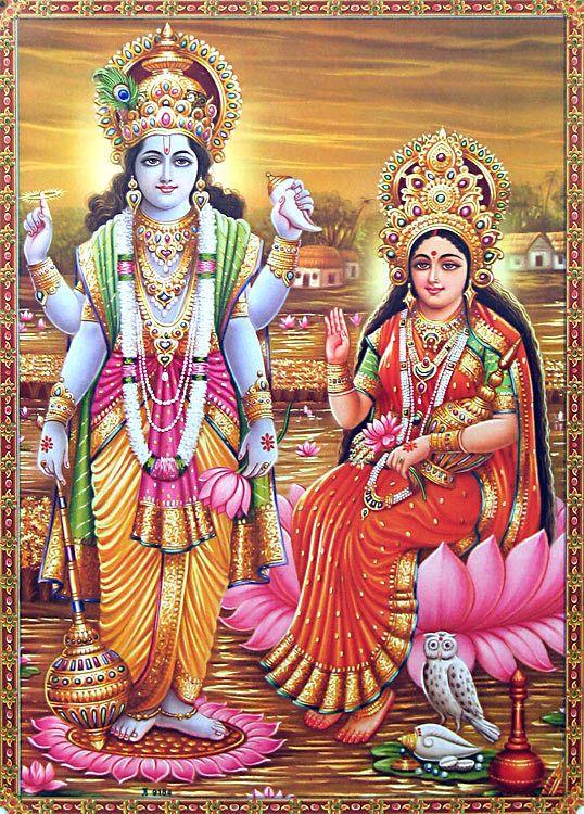 lakshmi and vishnu - Google Search | lakshmi and friends ...  lakshmi and vis...