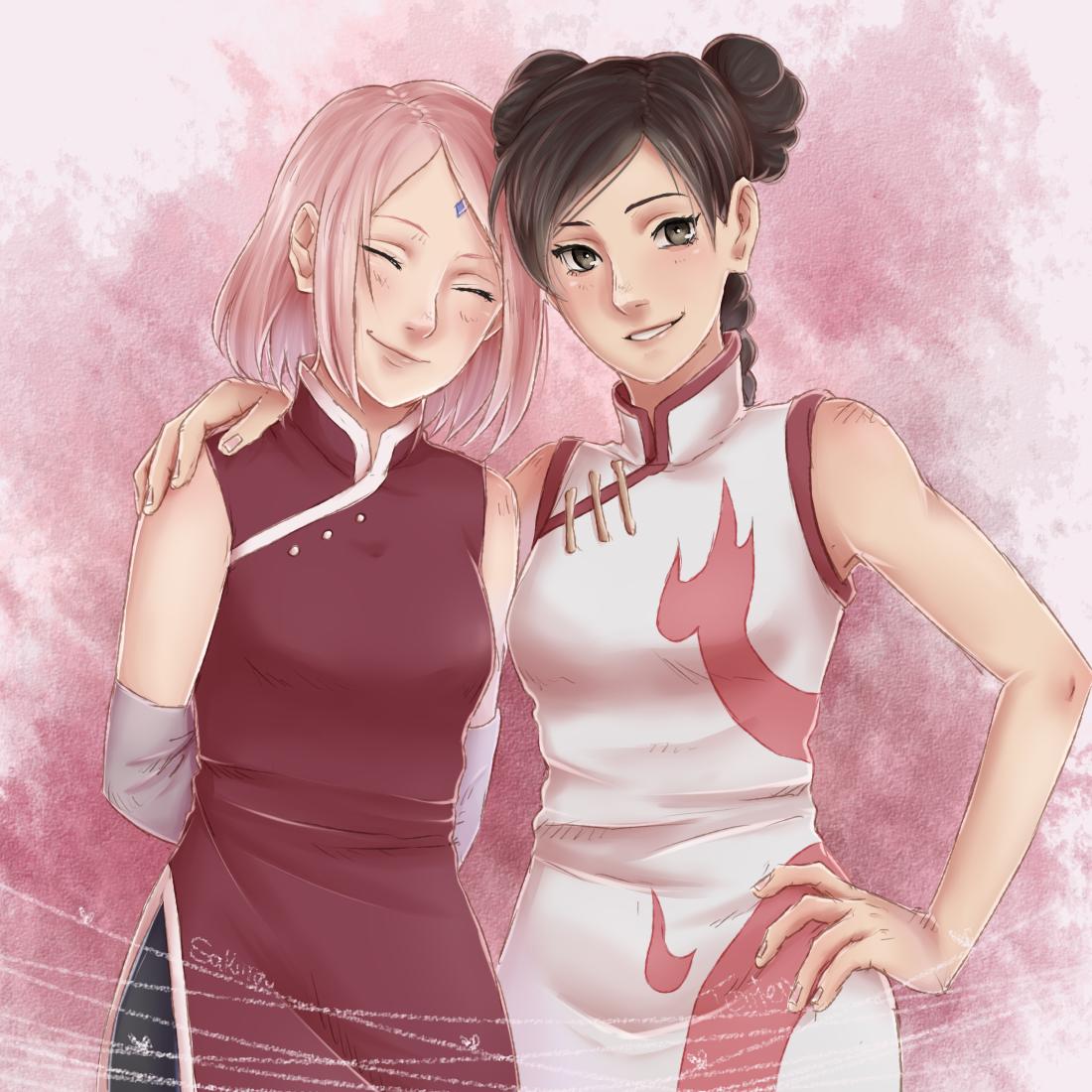 Sakura and TenTen | Naruto girls, Naruto, Naruto cute