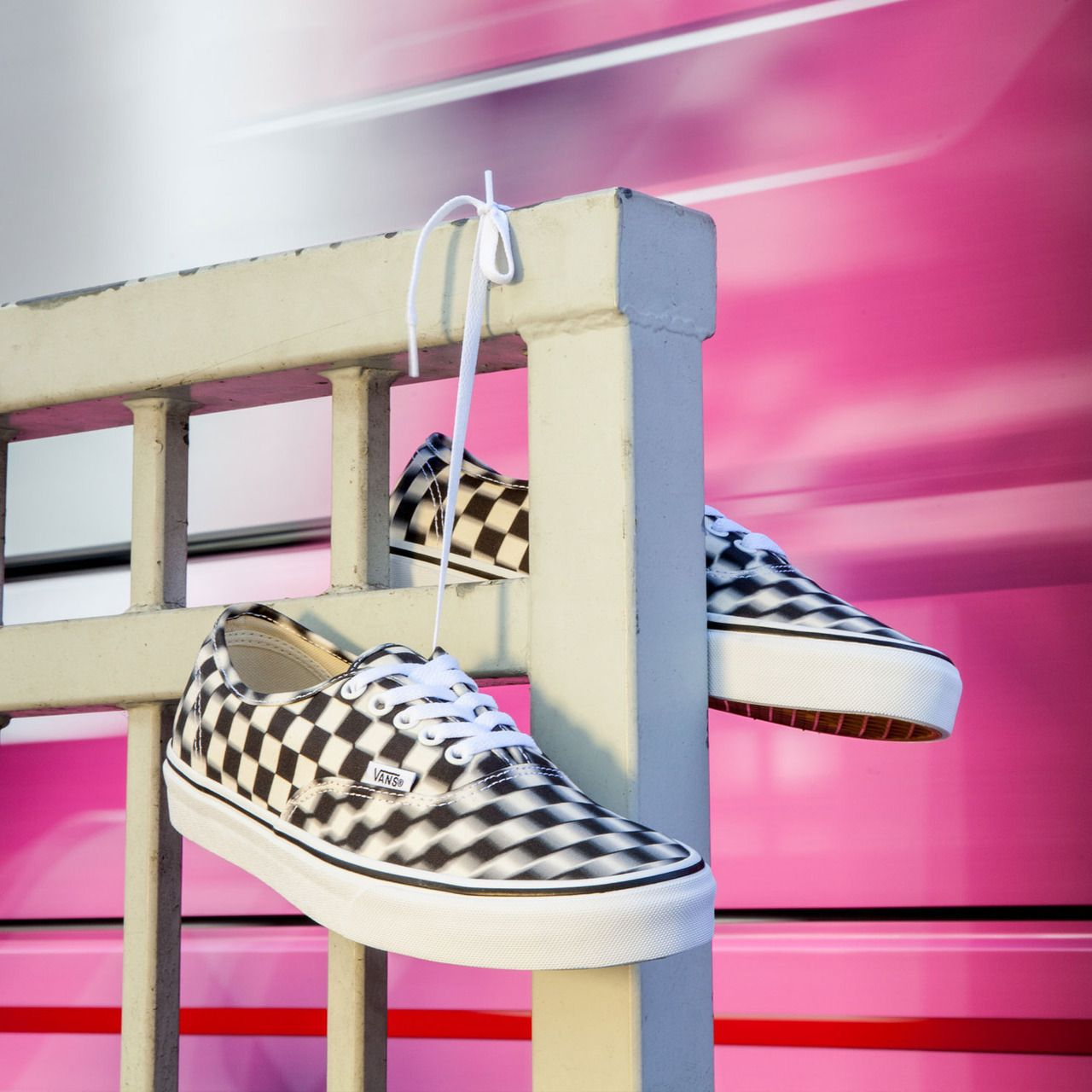 0a5fc15706 A new spin on Checkerboard that s bound to cause doubletakes. Shop the Blur  Check Pack at vans.com classics or your nearest store.