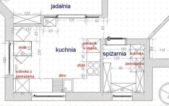Kuchnia Odleglosc Miedzy Szafkami A Wyspa Szukaj W Google Kitchen Floor Plans Diagram