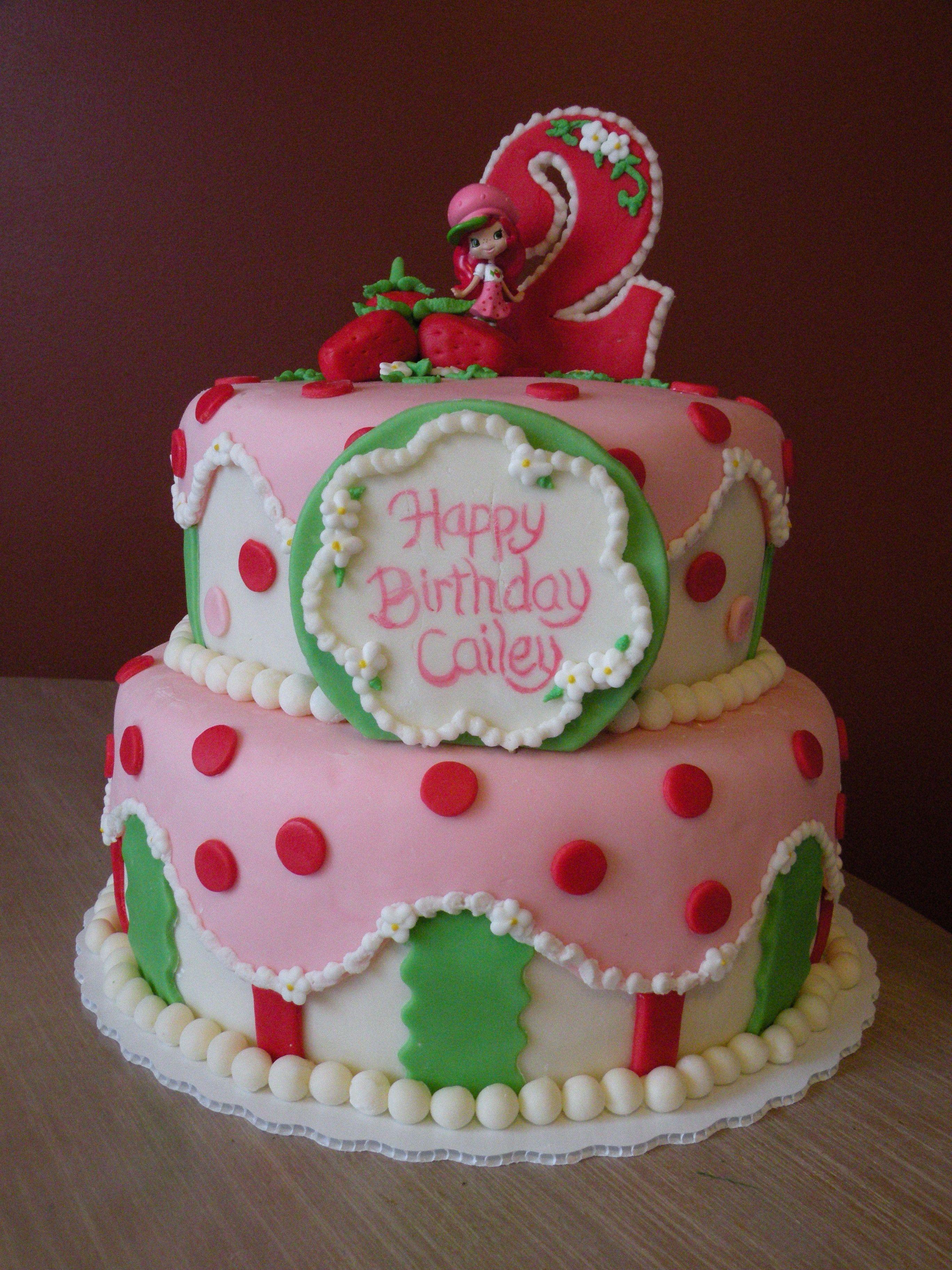 Strawberry Shortcake Birthday Cake Cake Made For A Little Girls - 2nd birthday cake designs