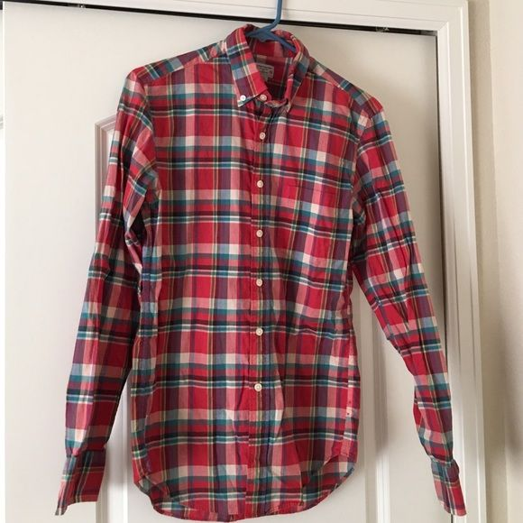 JCREW WOVEN Awesome jcrew woven. Men's size xs. Great unisex top. J. Crew Tops Button Down Shirts