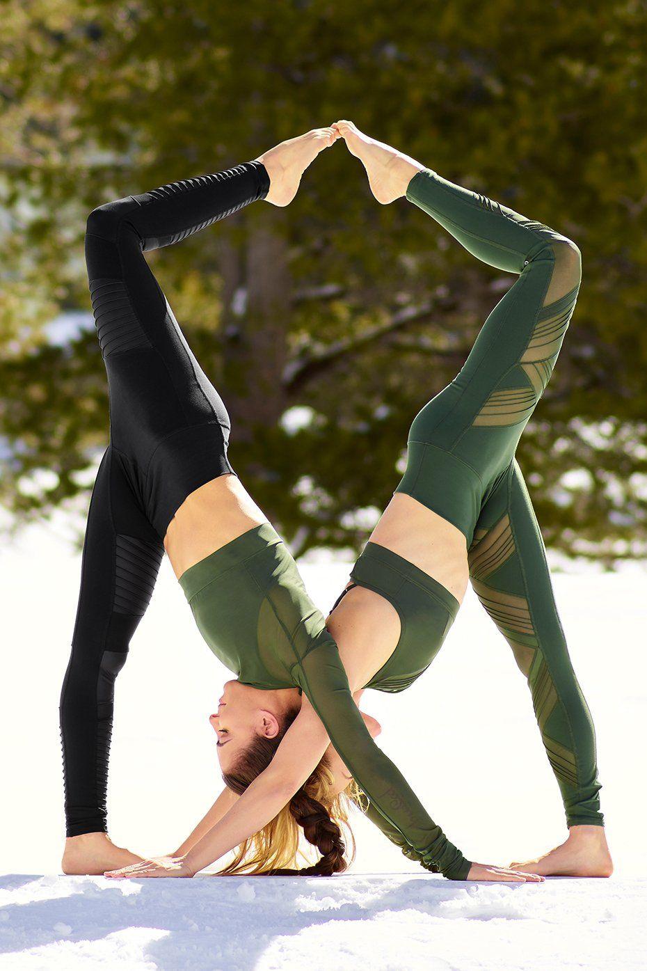 Alo Yoga Ultimate High Waist Legging In Hunter Usd122 Partner Yoga Poses Acro Yoga Poses Partner Yoga