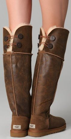 UGG Australia Over the Knee Bailey Button Boots. These are amazing. Maybe  for next winter? Uggs are such a good investment!