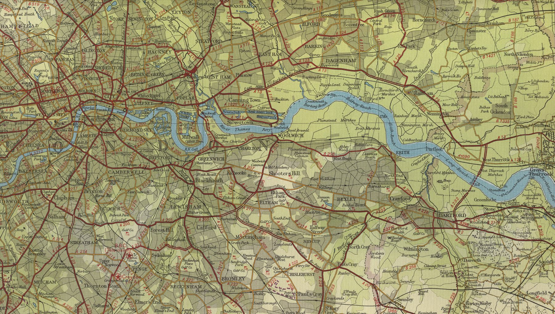 River thames map River Thames Map