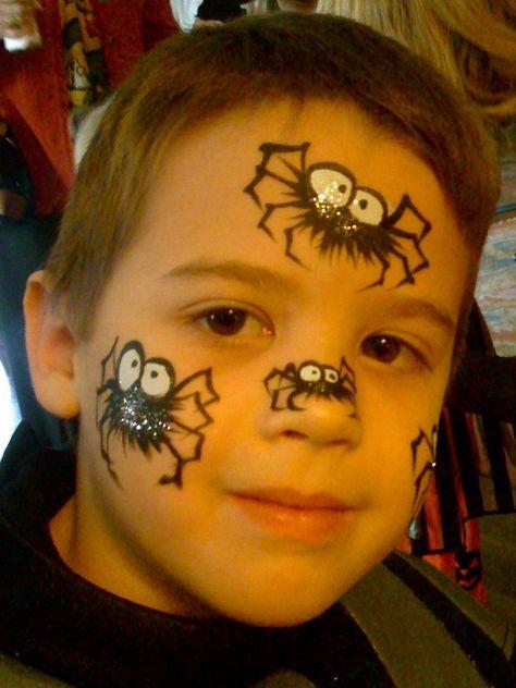 Maquillage grimage pinterest maquillage maquillage enfant et maquillage pour enfants - Maquillage halloween araignee ...