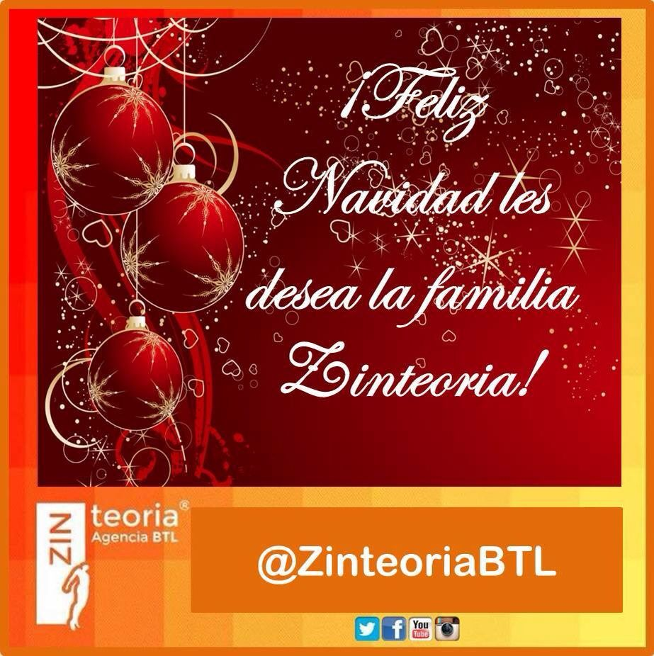 ¡Feliz Navidad les desea la familia Zinteoria!