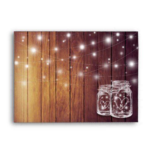Rustic Wood Mason Jar String Lights Wedding Shower ...