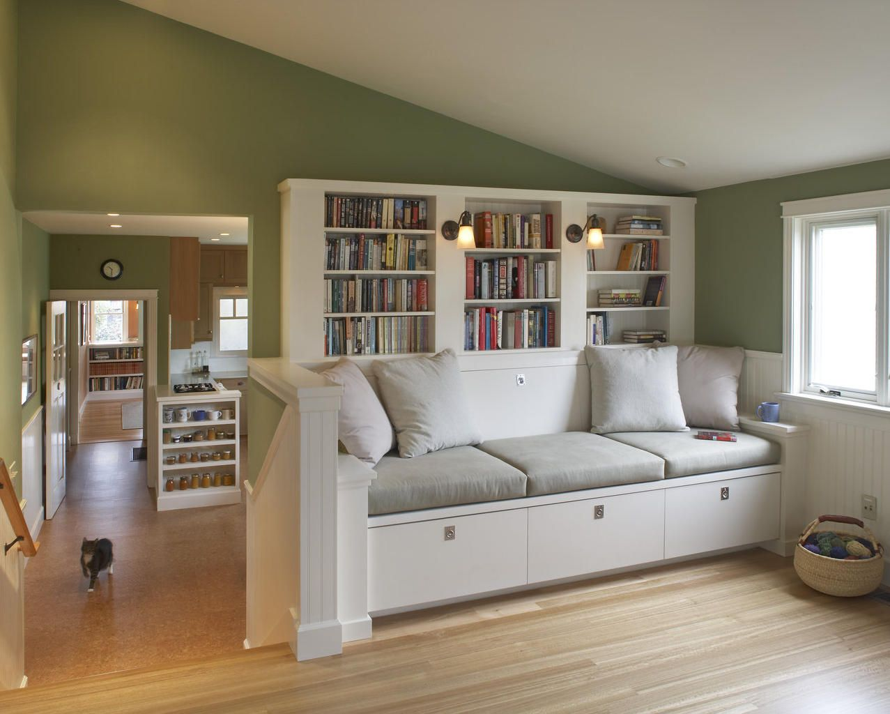 Like this built in sofa.