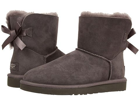 ugg mini bailey bow grey sale