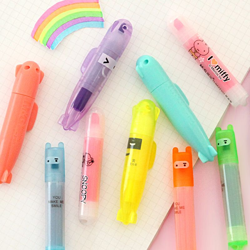 PACK OF 2 HAND FLOWER SHAPED HIGHLIGHTER PENS 5 COLOURS SCHOOL OFFICE STATIONERY