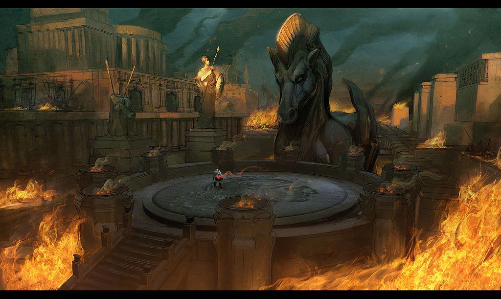FUNPLAY video games God of war, Game art, Art