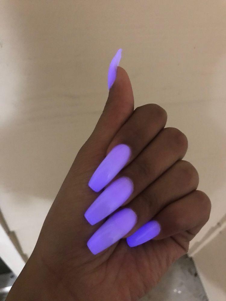 Purple Coffin Nails Purple Acrylic Nails Purple Nails Coffin Nails Designs