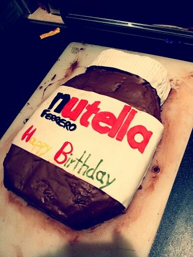 #Nutellacake  Made it for my best friends sweet sixteen cause she LOVES Nutella loads!!!