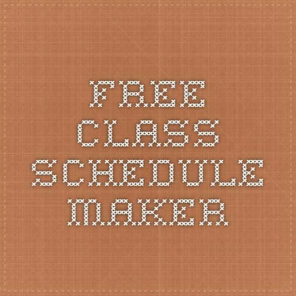 weekly college schedule maker