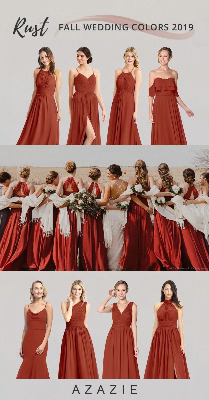 Rust Bridesmaid Dresses Azazie Rust Bridesmaid Dress Orange Bridesmaid Dresses Burnt Orange Bridesmaid Dresses [ 1527 x 800 Pixel ]