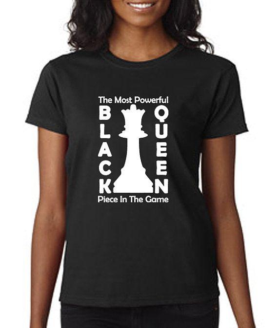 black queen chess t shirt