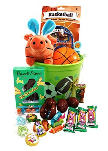 Easter bucket basket prefilled boys sports activity candy and toy easter bucket basket prefilled boys sports activity candy and toy classic easter gift basket bundle 25 negle Image collections