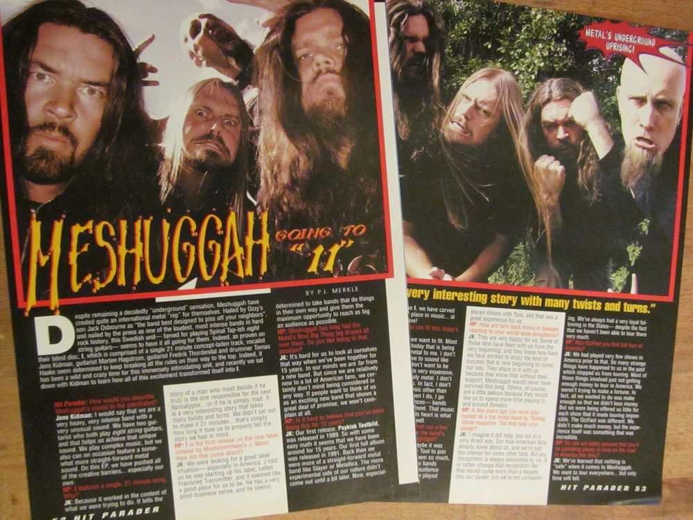 Meshuggah, Two Page Clipping