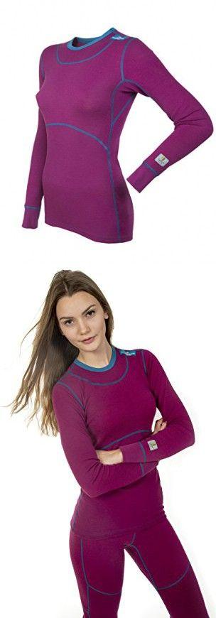 06dfb24de7f Janus 100% Merino Wool Women's Sport Top Machine Washable Made in Norway  (Medium, Lilac)