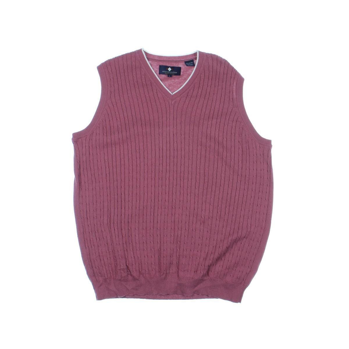 Argyle Culture Mens Cable Knit V-Neck Sweater Vest | Cardigans For ...