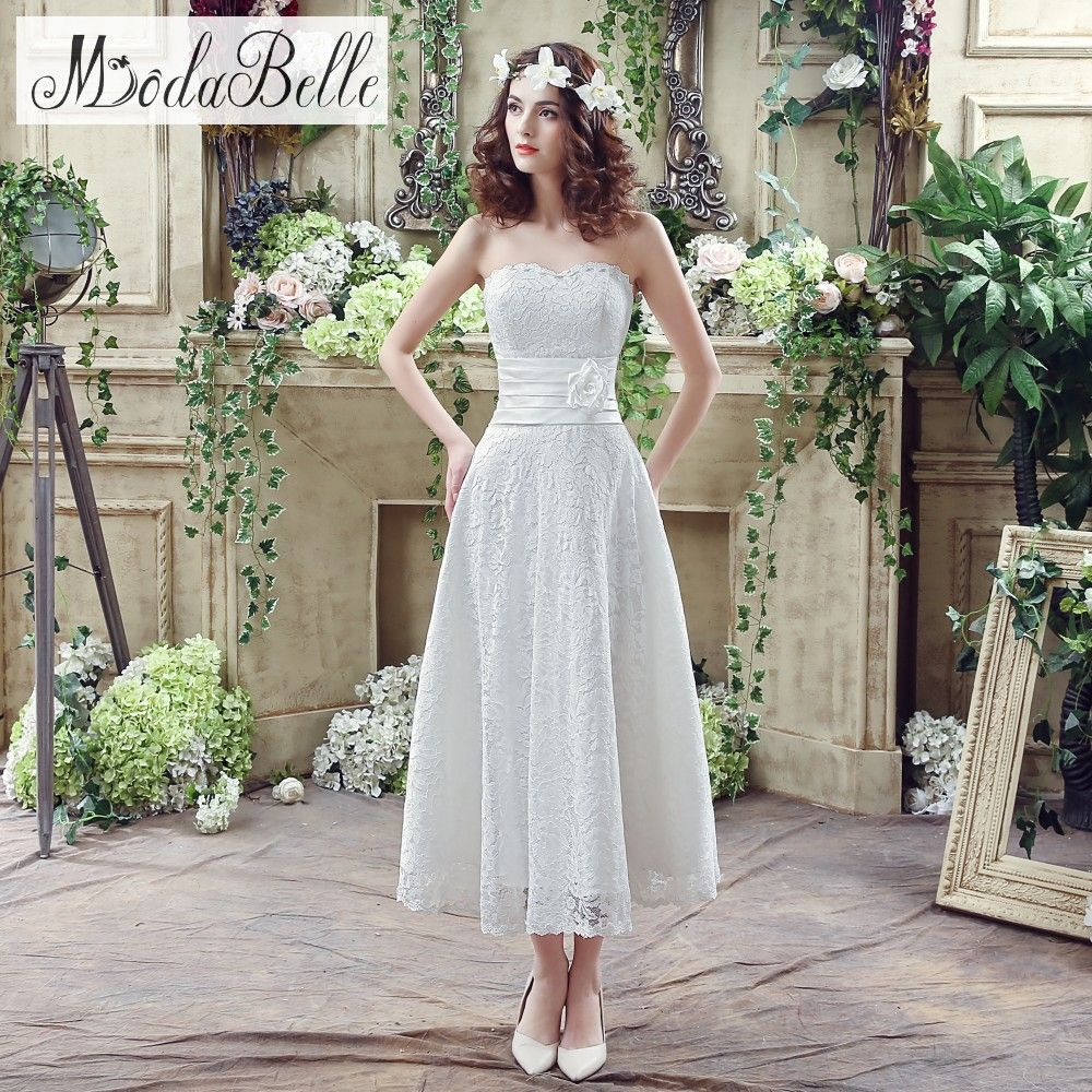 Click to buy ucuc in stock white ivory sweetheart lace wedding