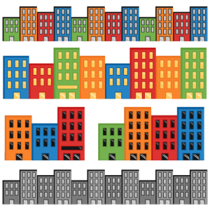 Superhero Cityscapes SVG
