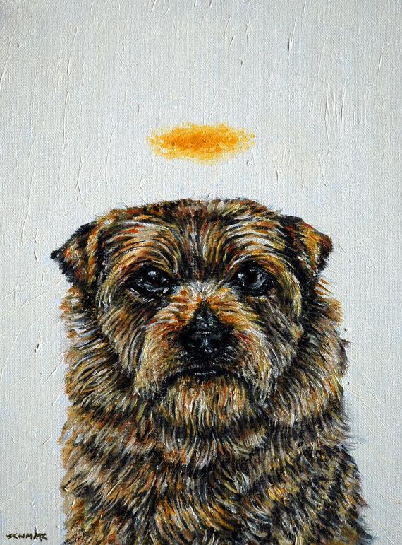 Brussels Griffon coffee dog 11x14 animals impressionism artist gift new