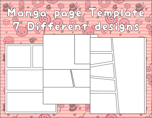 Fantastic Manga Page Template Collection - Resume Template ...
