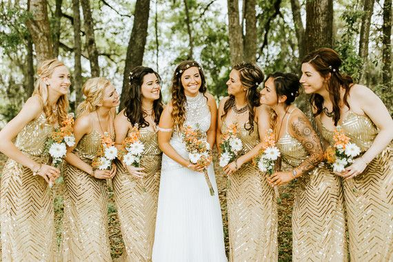 Gold Bridesmaid Dresses By Adrianna Papell Love This