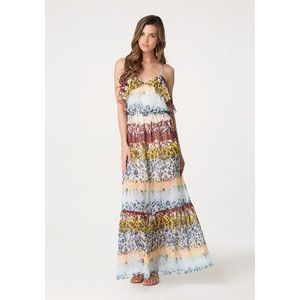 Floweret Ruffle Maxi Dress