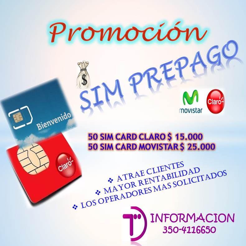 SIM CARD PREPAGO   Para negocio al mejor Precio   Lleva sim card