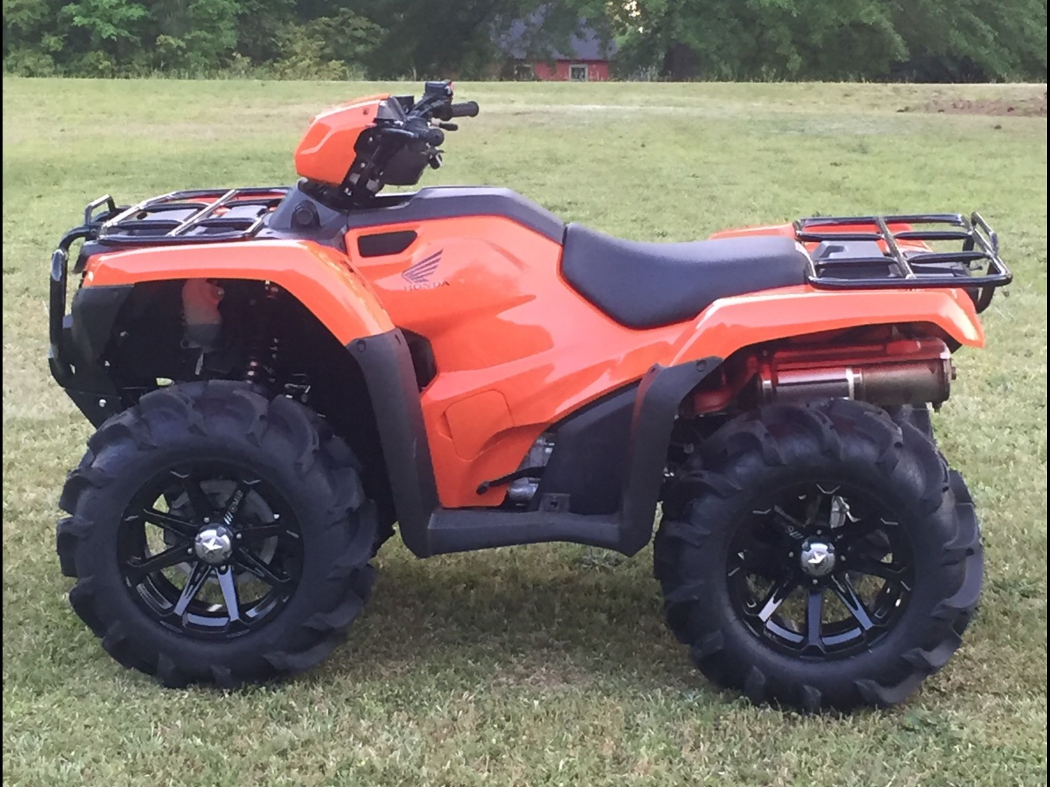 2016 Honda 500 Foreman I Have The Same One With Different Wheels Atv Fifth Wheel Trailers Atv Riding