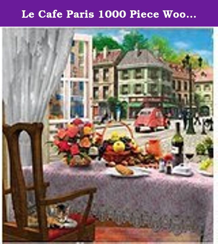 Le Cafe Paris 1000 Piece Wooden Puzzle. This is a high quality wooden jigsaw puzzle imported from England.