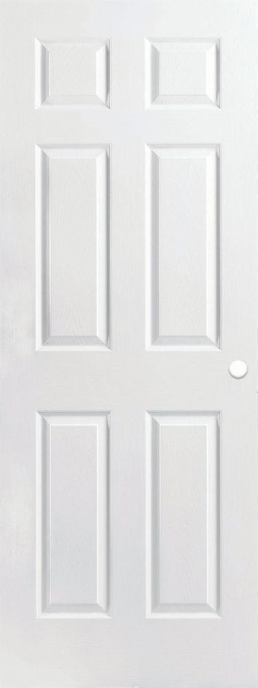 Masonite 22 Inch X 80 Inch Primed 6 Panel Textured Interior Door Slab The Home Depot Canada Prehung Interior Doors