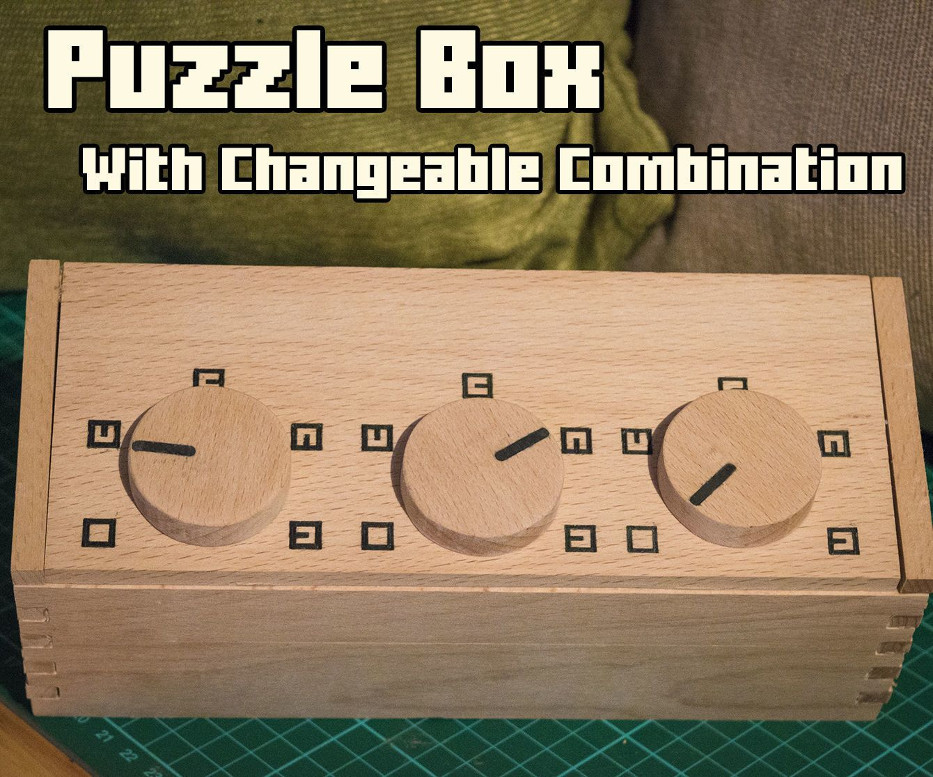 I've seen a few of these types of combination boxes and thought they would be great for use in role playing games such as Dungeons and Dragons. Players can discover the box in a dungeon and then spend the rest of the adventure gathering clues to help them open it. The problem I found when buying a box like this is that the combination is fixed and once your group have worked out the combination it it unlikely that you will use it in a game again. So I designed a box in which the combinati...