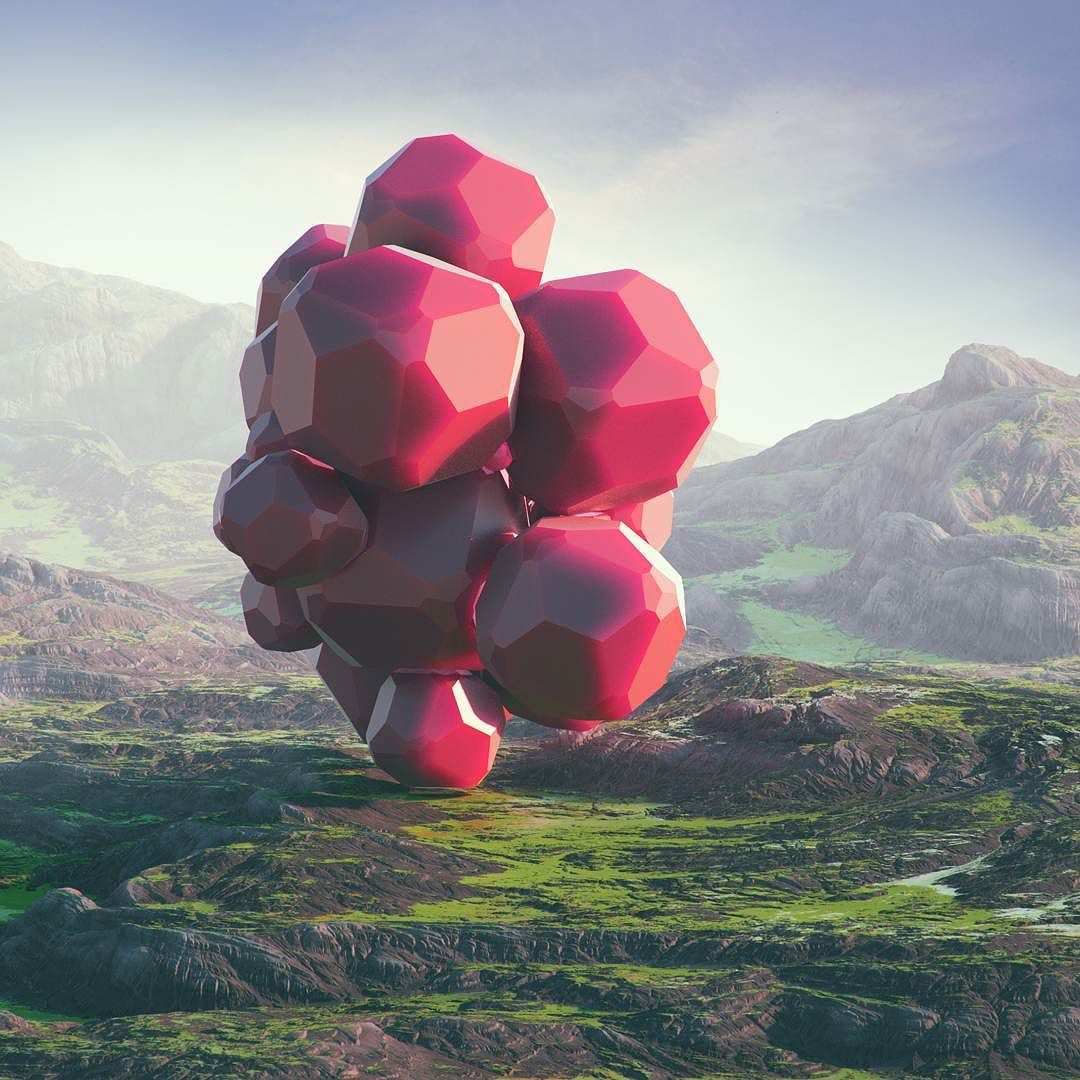 #attraction #cinema #4d #c4d #cinema4d #octane #render #octanerender #photoshop #daily #3d #gfx #graphics #graphic #design #abstract #art #surreal #mountains #landscape #rocky #moor #sunset #gems #geometry #crystal #realistic #mist #rsa_graphics by hoodass