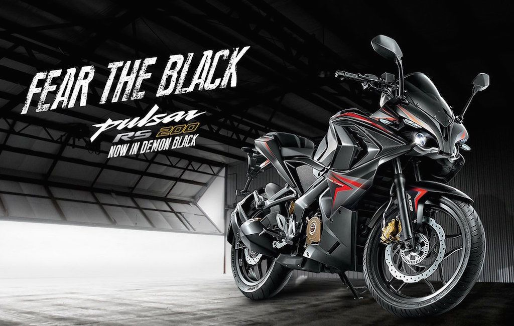 Pulsar Rs 200 In New Demon Black Shade Launched In India Pulsar