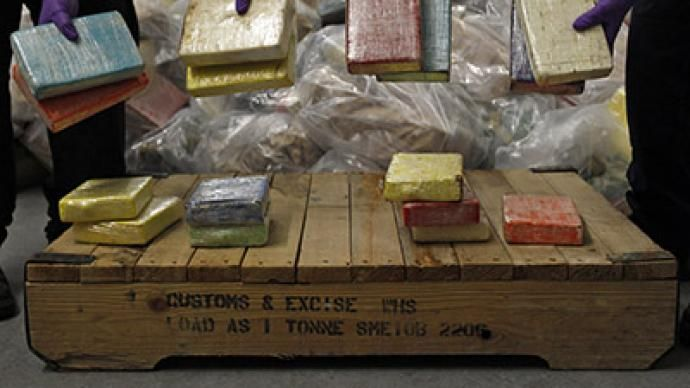 United Jingdom Losin War On Drugs - Cocaine from Britain's largest ever cocaine seizure is displayed by UK Border Agency staff in London August 3, 2011.(Reuters/Stefan Wermuth)