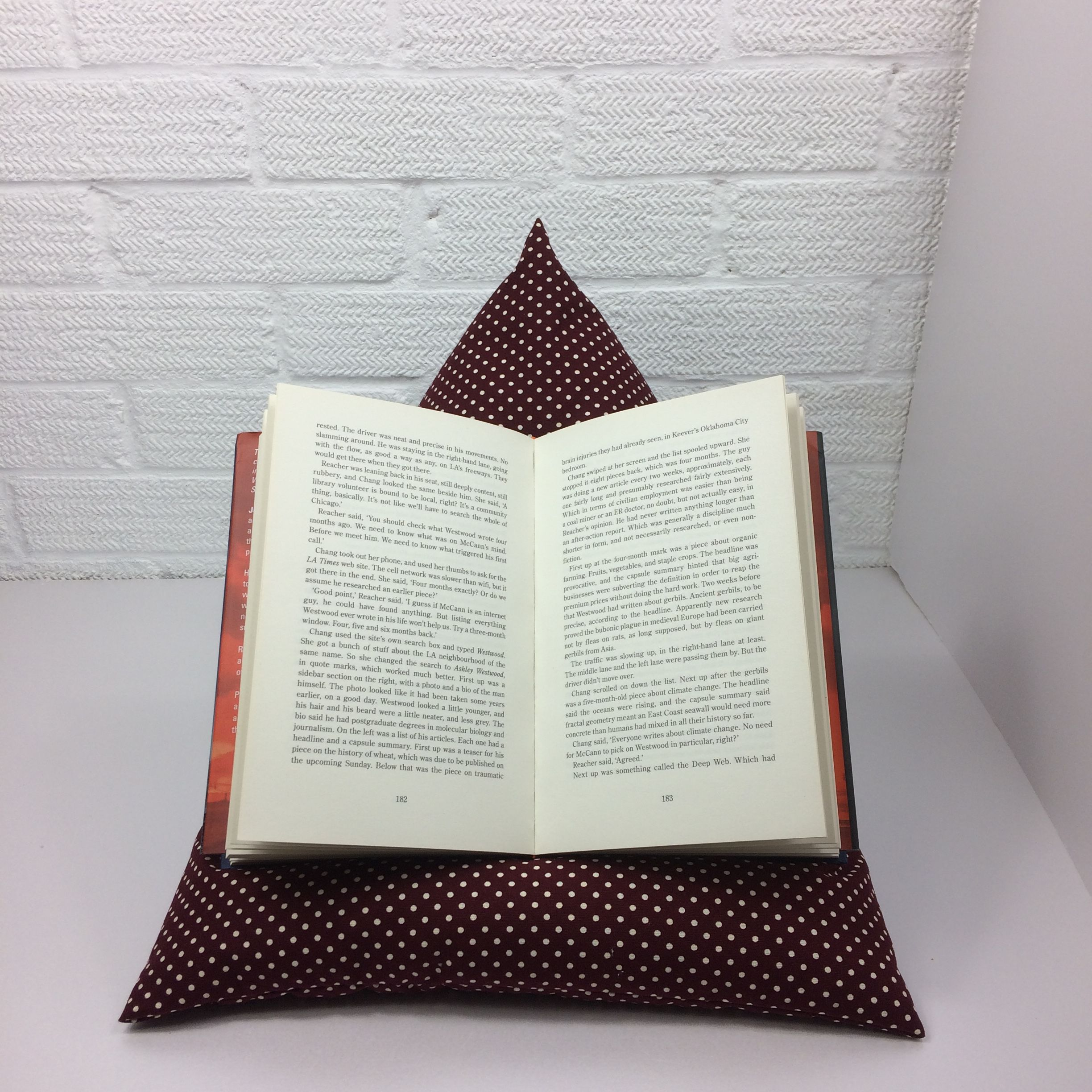 book holder or ipad stand bean bag deep red wine book holder