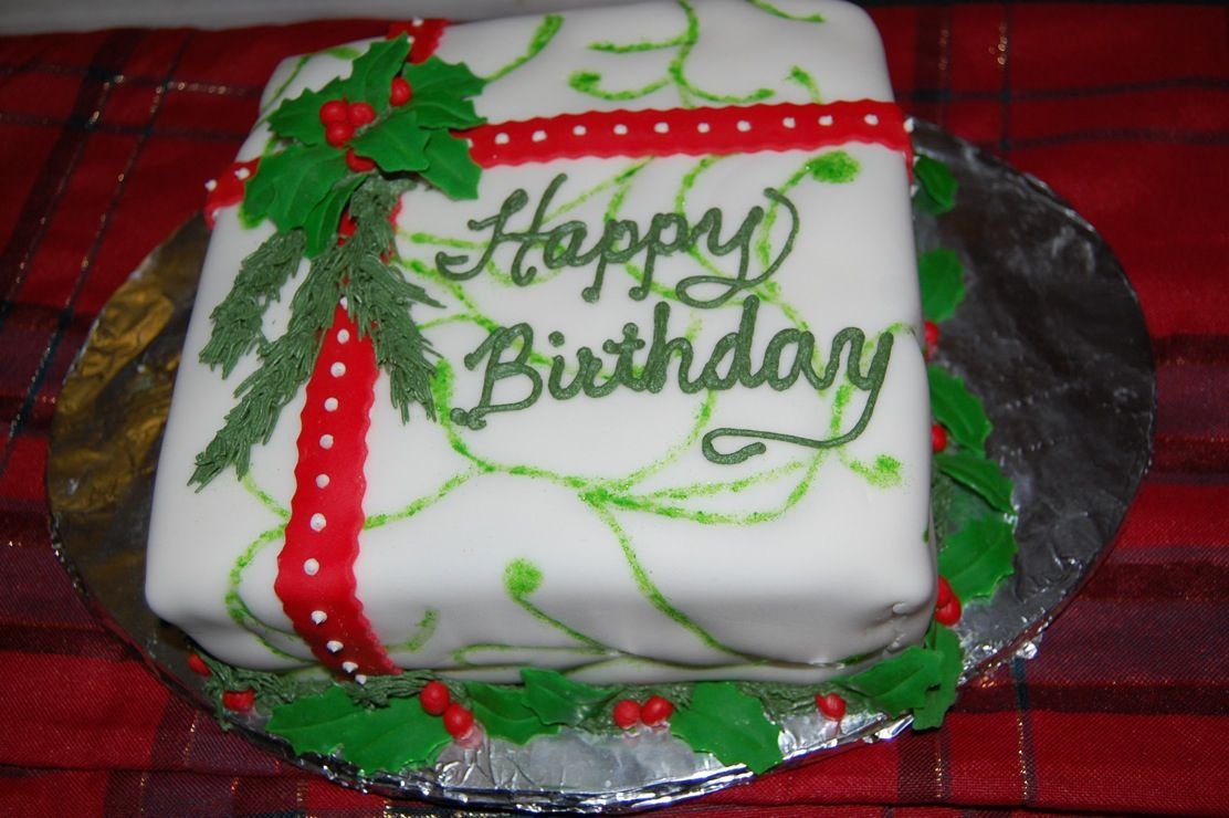 25 Elegant Image Of Christmas Birthday Cakes Christmas