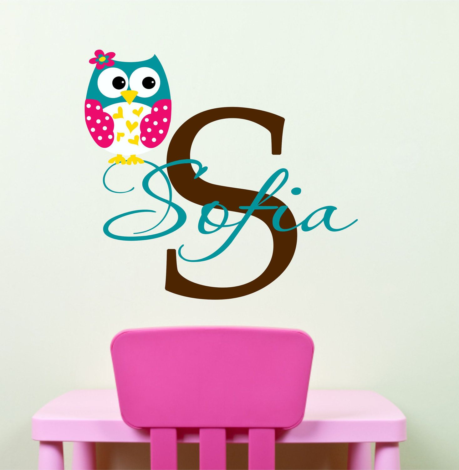 Nice Childrens Decor   Owl Wall Decals   Personalized Name Owl Wall Decal For  Boy Girl Nursery