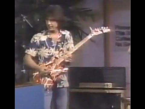 Eddie Van Halen On Letterman 1984 Youtube Eddie Van Halen Van Halen Popular Music