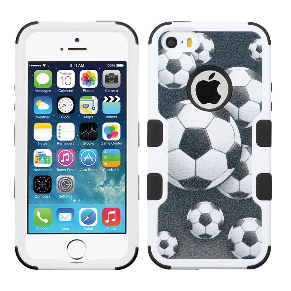 MYBAT TUFF Graphic Series iPhone 5/5S/SE Case - Soccer