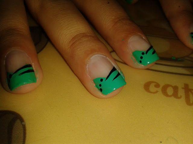 Glam Nails: Uñas siempre lindas: Diseño de uñas: Verde menta con ...