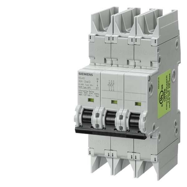 Marke: Siemens Leitungsschutzschalter LS-Schalter | Herstellernummer: 5SJ43258HG42_Siemens_Leitungsschutzschalter | Maßeinheit: Stück | Anzahl der Einheiten: 1 | Hersteller: Siemens Indus.Sector | Bezeichnung: Leitungsschutzschalter 10kA, 3-p, D, 25A | Typ: 5SJ4325-8HG42 | Auslösecharakteristik: D | Polzahl (gesamt): 3 | Anz. der abgesicherten Pole: 3 | Bemessungsstrom: 25 A | Bemessungsspannung: 400 V | Bemessungsisolationsspannung Ui: 440 V | Bemessungsschaltvermögen Icn nach EN 60898 bei 230