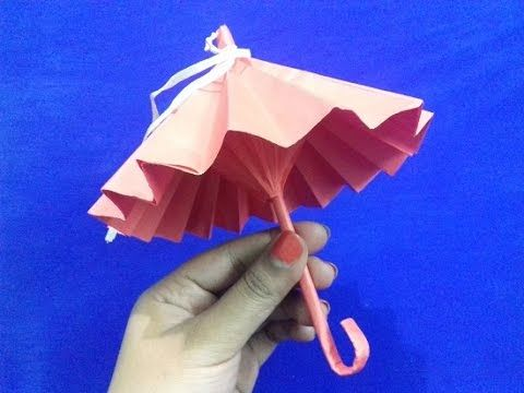 Origami Umbrella That Opens And Closes Easy Step By Process