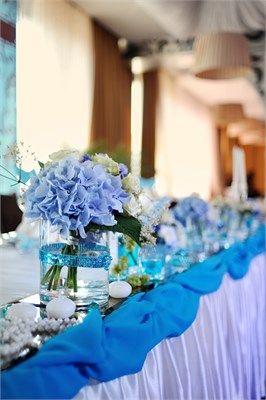 Blue themed wedding decor ddg pinterest blue themed wedding decor junglespirit Gallery