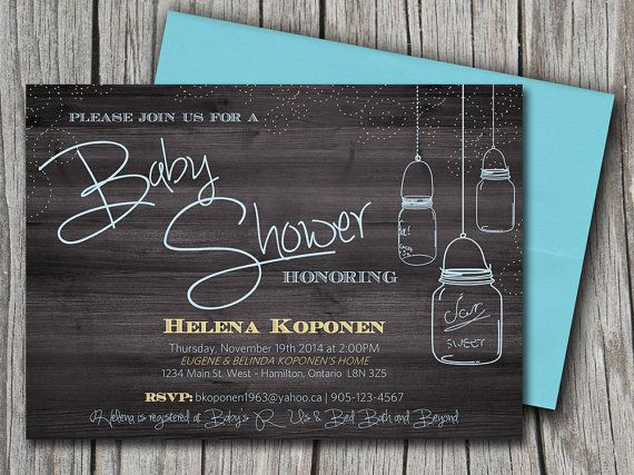 Baby Shower Invitation Template - Mason Jar Baby Shower Invitation - bridal shower invitation templates for word