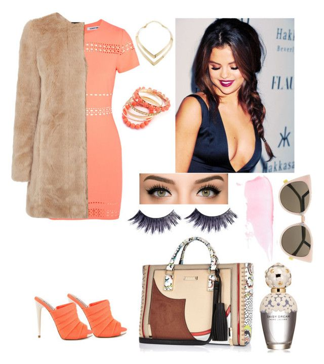 """Orange PrincesS"" by reyhannalee on Polyvore featuring Steve Madden, Elizabeth and James, Fortuni, River Island, Marc Jacobs, Manic Panic, Ruby Rocks, Fendi, Oasis and women's clothing"
